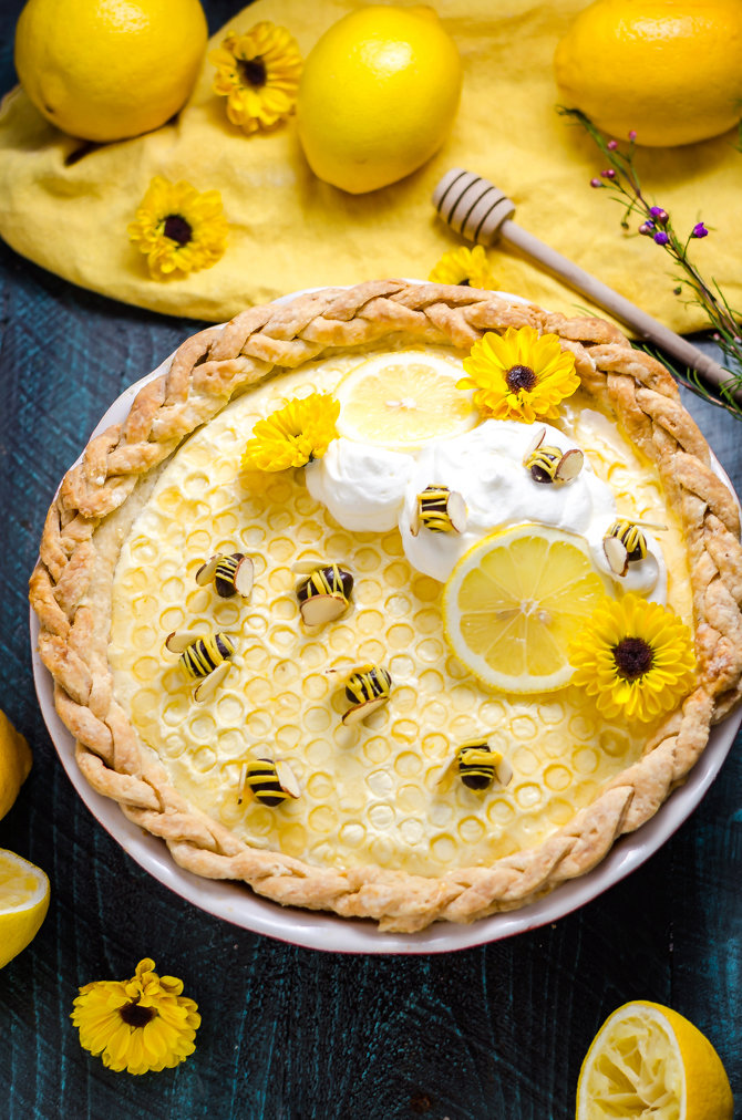 Honey Lemon Chiffon Pie