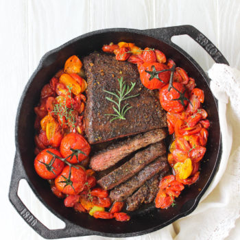 Skillet Steak & Tomatoes, For Two