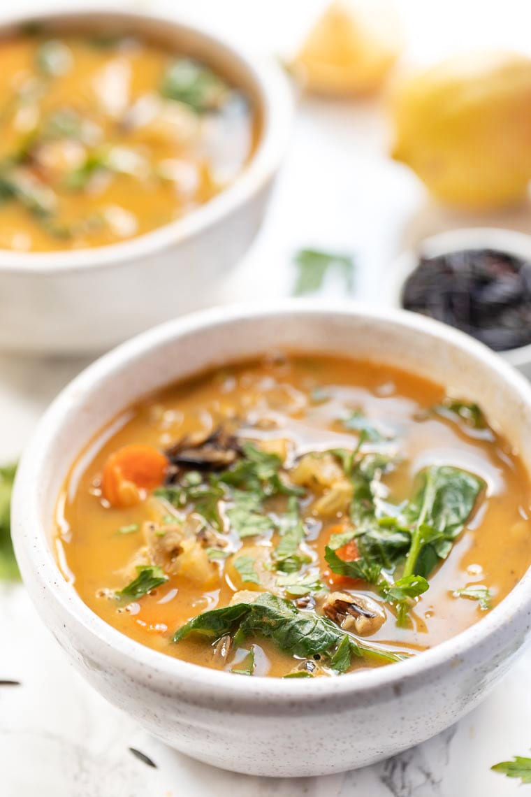 Lemon & Garlic Wild Rice Soup