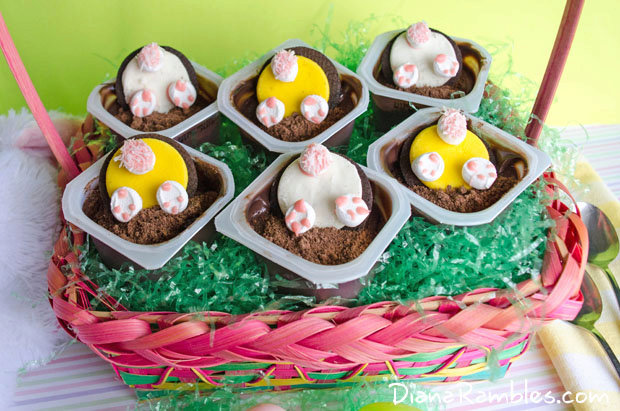 Bunny Butt Easter Pudding Cups