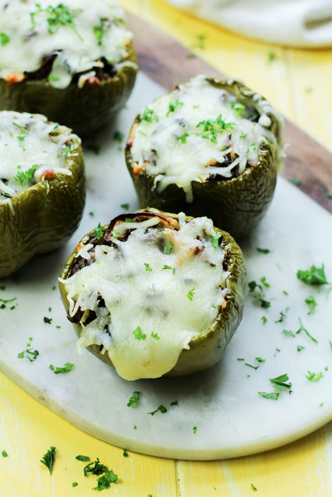 Keto Philly Cheese Steak Stuffed Peppers