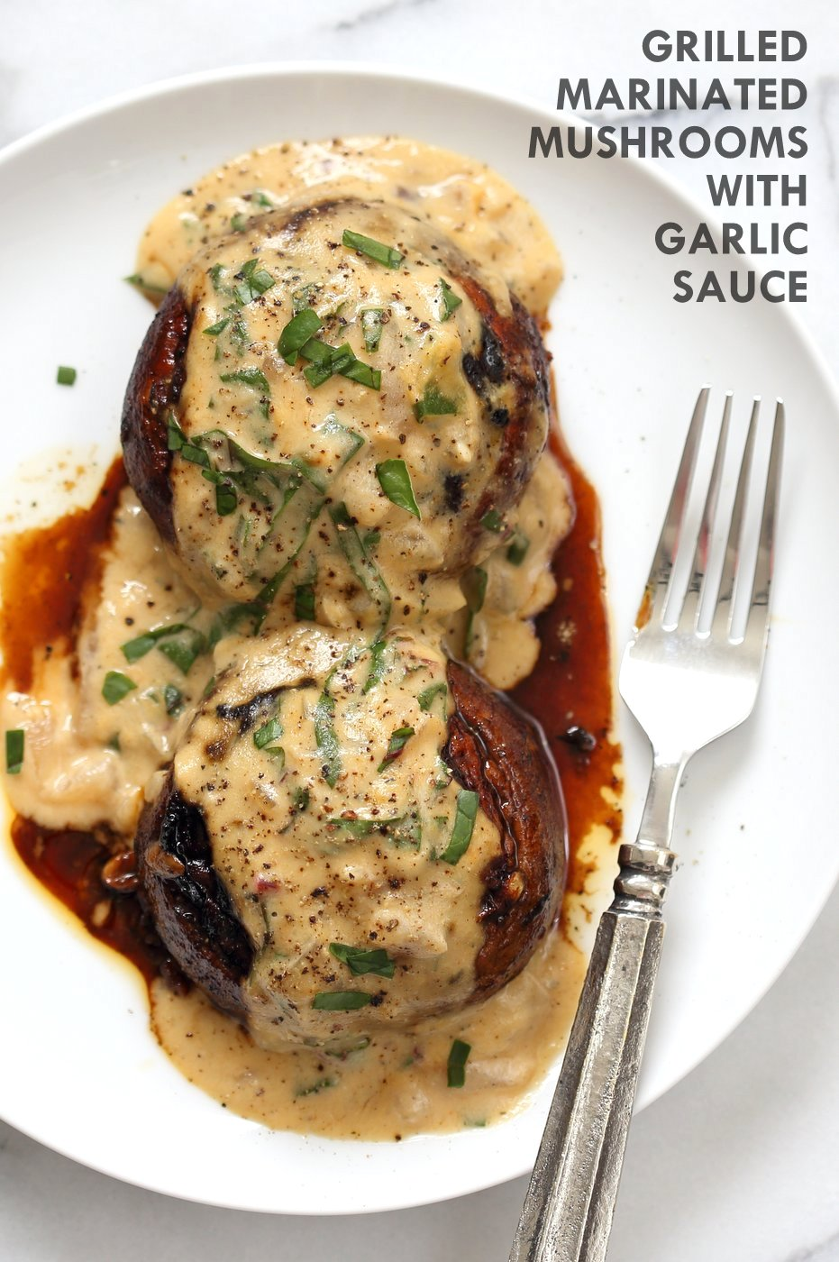 Chynna Grilled Portobello Mushrooms with Garlic Sauce
