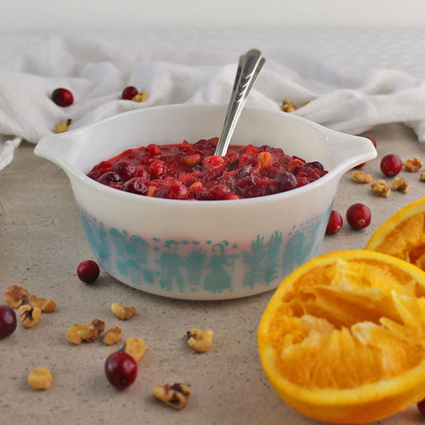 Low-Sugar Orange Cranberry Sauce