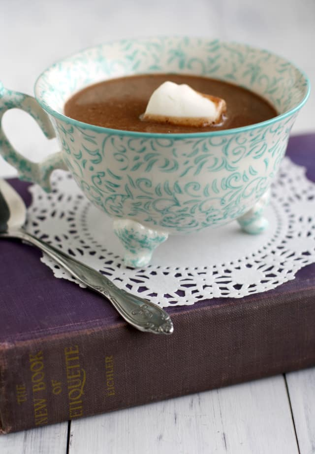 Decadent Coconut Cream Hot Chocolate.