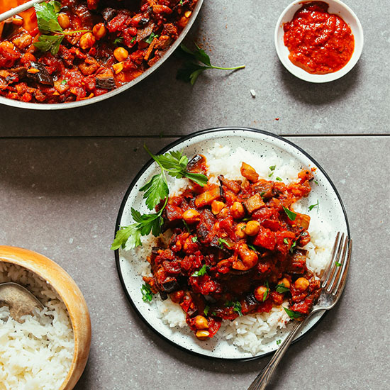 Moroccan-Spiced Roasted Eggplant & Tomatoes (ZAALOUK-inspired)