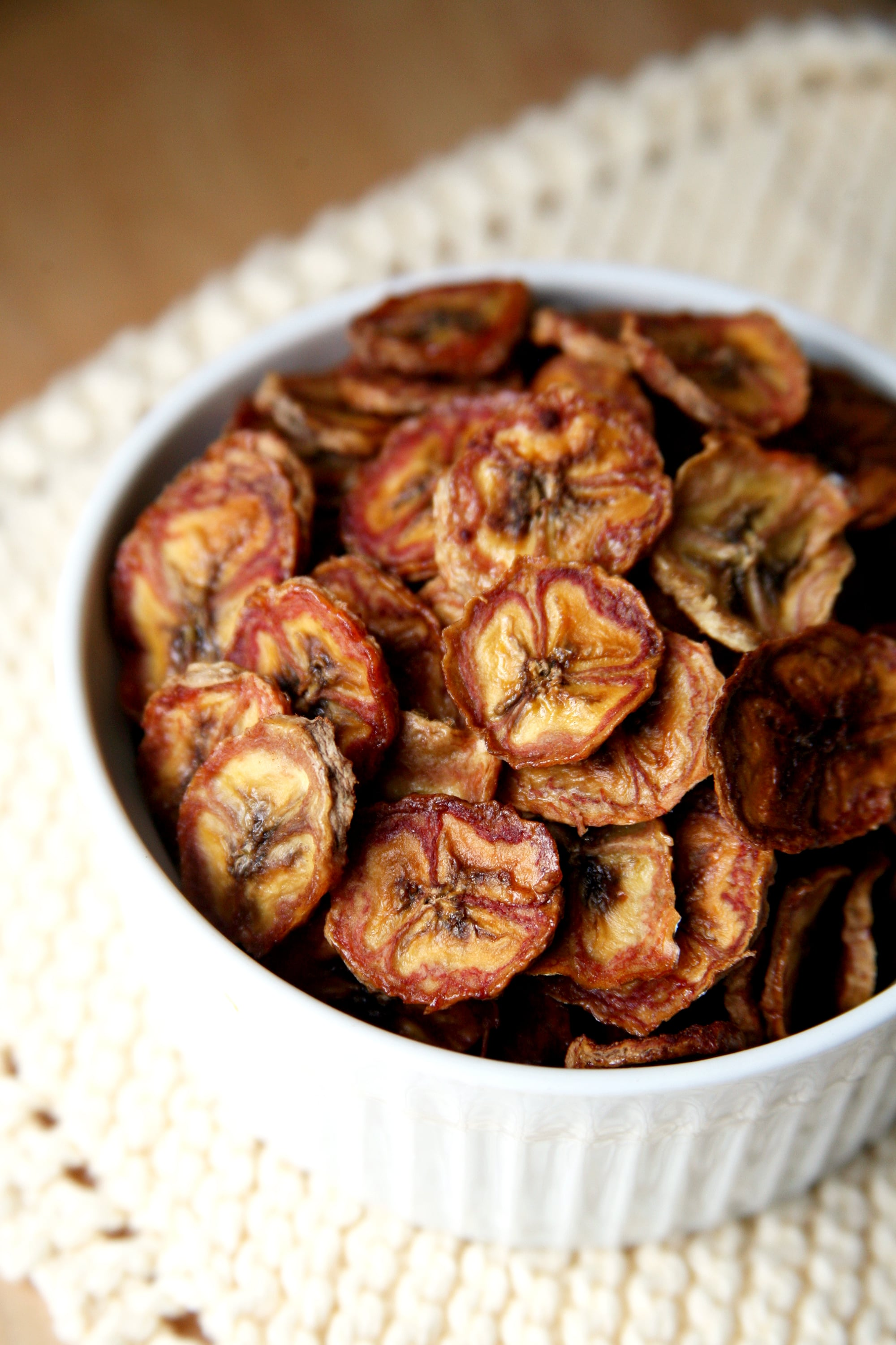 Baked Cinnamon Banana Chips Save on Dough and Added Sugars