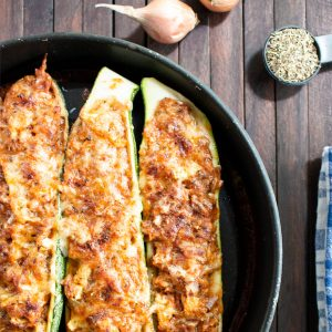 Easy Zucchini Boats Recipe [Vegetarian]