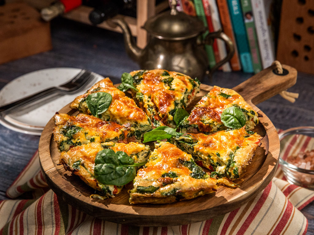 Cheesy Sausage and Bell Pepper Frittata