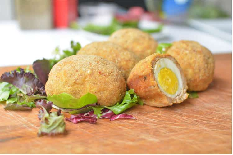 OVEN BAKED CHICKEN SCOTCH EGGS (VIDEO)